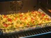 Fırında Sebze Kızartması