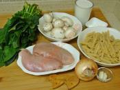 Tavuklu Ispanaklı Makarna
