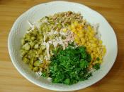 Tavuklu Yoğurtlu Mercimek Salatası