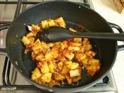 Patatesli Ispanak Yemeği