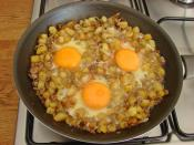Patatesli Kıymalı Yumurta