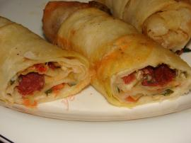 Filo Pastry Patty With Sausage And Kashar Cheese Recipe