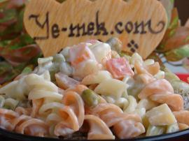 Renkli Makarna Salatası