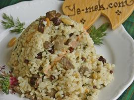 Liver Pilaf (Liver with Rice) Recipe