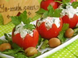 Tomatoes Cups Stuffed With Cheese Recipe