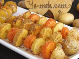 Fried Fresh Potato Skewers Recipe