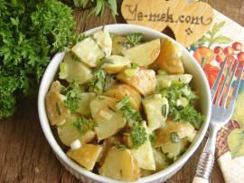 Taze Patates Salatası