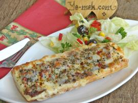 Braised Meat Bread Pizza Recipe