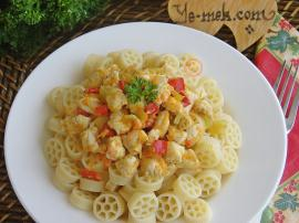 Pasta With Creamy Chicken Curry Recipe