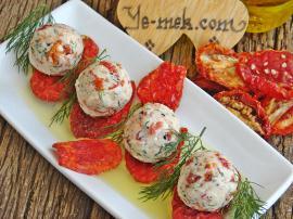 Dried Tomato Cheese Balls Recipe