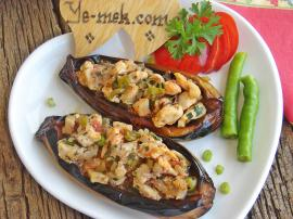 Chicken Stuffed Eggplant Recipe