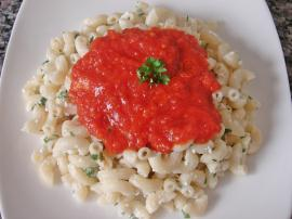 Tomato Sauce With Cheese Pasta Recipe