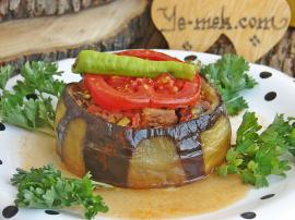 Meat Stuffed Eggplant Kebab Recipe