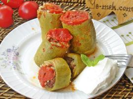 Stuffed Zucchini With Minced Meat Recipe