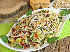 Soya Filizli Mevsim Salatası