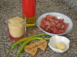 Meat Barley Noodle Pilaf Recipe