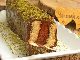 İki Renkli Bisküvili Pasta Nasıl Yapılır?