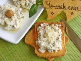 Kahvaltılık Zeytinyağlı Peynir Ezmesi