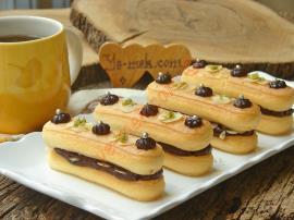 Çikolatalı Kedi Dili Ekler Pasta