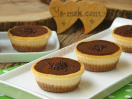Çikolatalı Mini Çiz Kek (Cheesecake)