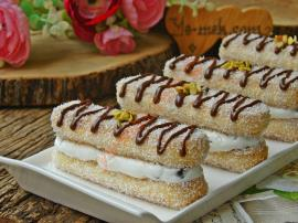 Hindistan Cevizli Kedi Dili Ekler Pasta Nasıl Yapılır?