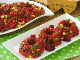 Kırmızı Pancarlı Bulgur Salatası Nasıl Yapılır?