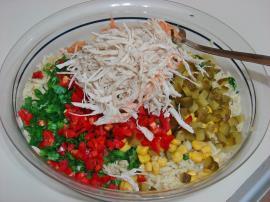 Tavuklu Arpa Şehriye Salatası