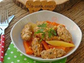 Terbiyeli Sebzeli Pirinçli Sulu Köfte Yemeği