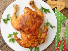 Fırında Bütün Tavuk Kızartması