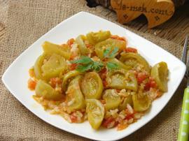 Pirinçli Yeşil Domates Yemeği