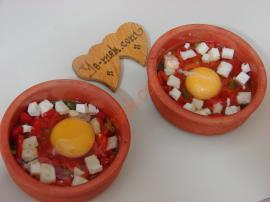 Fırında Domatesli Yumurta