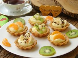 Kremalı Meyveli Tartolet Nasıl Yapılır?