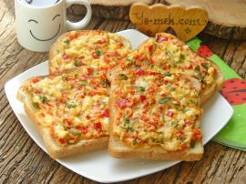 10 Dakika da Hazır Nefis Bir Tarif : Kahvaltılık Domatesli Peynirli Ekmek Dilimleri