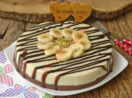 Pasta Görünümlü, Hafif Ve Lezzetli : İki Renkli İrmik Tatlısı