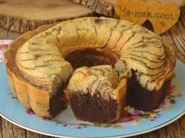 İki Renkli Sodalı Kek Nasıl Yapılır?