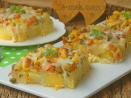Garnitürlü Sütlü Fırın Patates