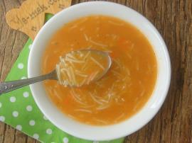 Tel Şehriyeli Tarhana Çorbası
