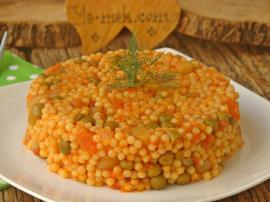 Sebzeli Kuskus Pilavı