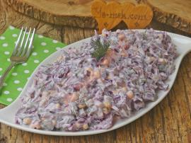 Yoğurtlu Mor Lahana Salatası Nasıl Yapılır?