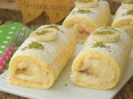 Yumuşacık Pandispanyası Ve Nefis Kremasıyla : Rulo Pasta