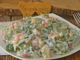 Kolay Yoğurtlu Semizotu Salatası