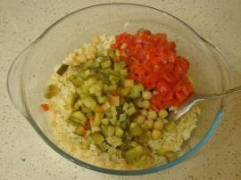 Nohutlu Bulgur Salatası