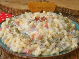 Mantarlı Makarna Salatası