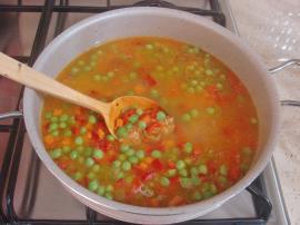 Sebzeli Arpa Şehriye Pilavı
