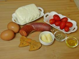 Sucuklu Hellim Peynirli Yumurta