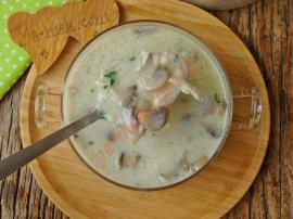 Mantarlı Kuskuslu Tavuk Çorbası