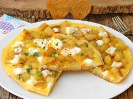 Peynirli Patatesli Omlet