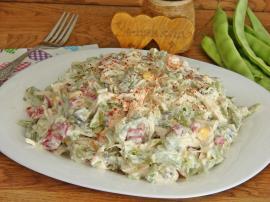 Tavuklu Taze Fasulye Salatası