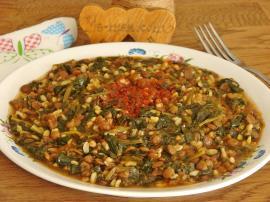 Yeşil Mercimekli Ispanak Yemeği