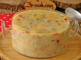 Sebzeli Mantar Çorbası